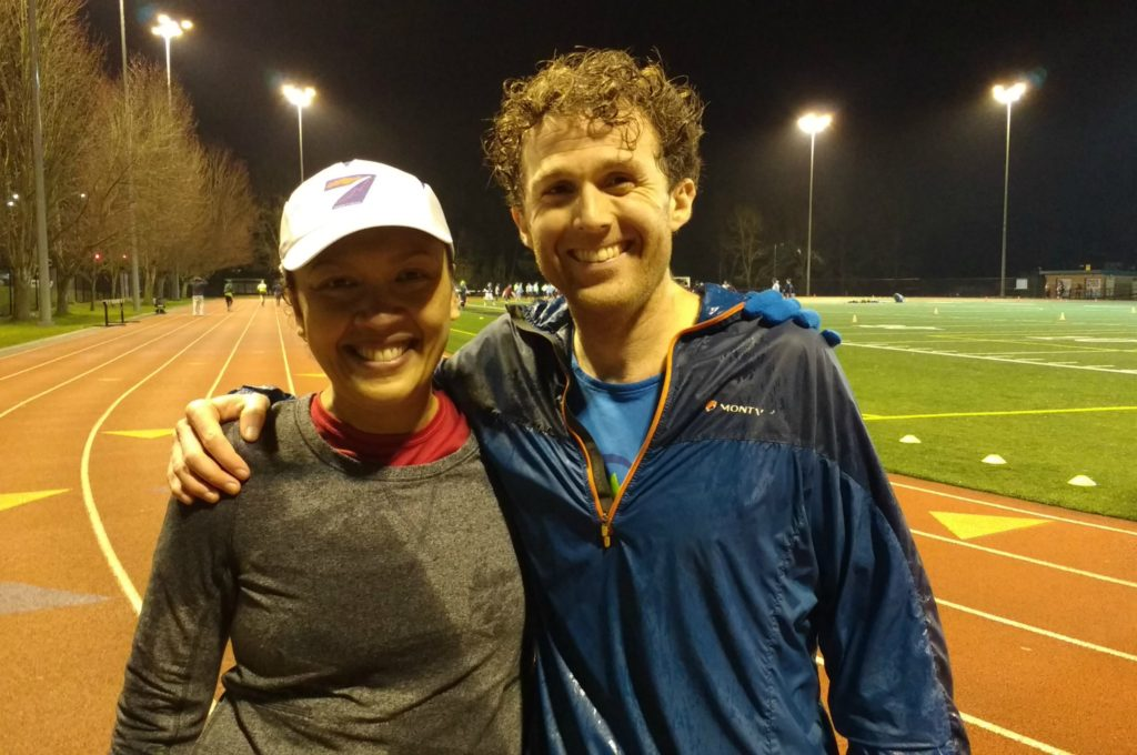 running coach and founder matt urbanski with long time TRR Dionne Himmelfarb