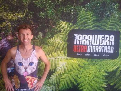 Matt Urbanski at 2021 Tarawera, sporting Space Cat Taco!