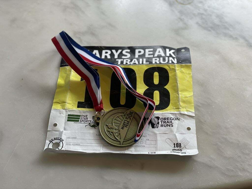 marys peak 50k race report