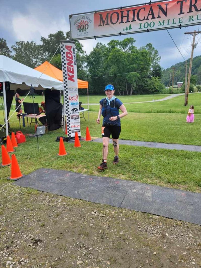 Sarah Forman at the Mohican 100 Trail Run 2021